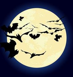 Moon in dark night background vector