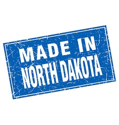 North Dakota blue square grunge made in stamp vector