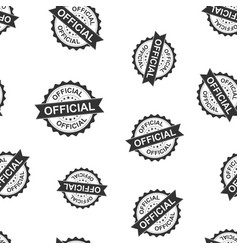 Official seal stamp seamless pattern background vector