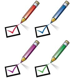 Pencils and checklist vector