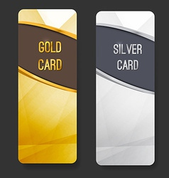 Premium membership club card collection vector