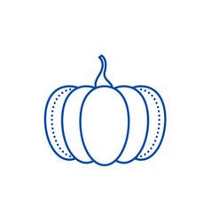 pumpkin line icon concept pumpkin flat vector image