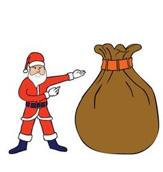 Santa Claus with big sack vector image