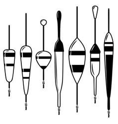 set fishing floats design element for logo vector image