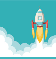 Space rocket launch with room for text vector