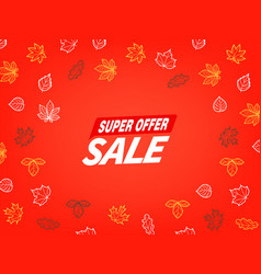 special offer season sale concept vector image