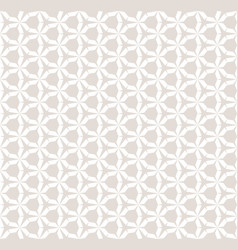 subtle white and beige seamless geometric pattern vector image
