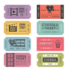 template of cinema tickets designs of vector image