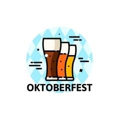 Thin line Oktoberfest vector