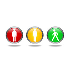 traffic light symbol logo vector image