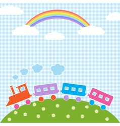 Train and rainbow vector
