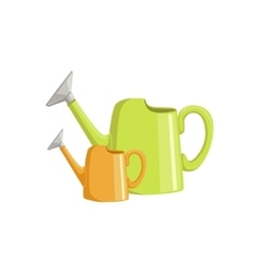 Two Bright Watering Cans vector
