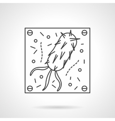 Virus icon flat line design icon vector image