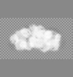white realistic cloud isolated on transparent vector image