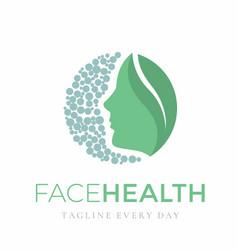 Women face logo design template for beauty vector