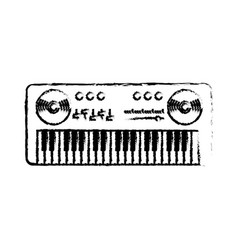 Figure piano musical instrument to play music vector