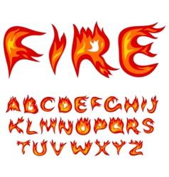 flame alphabet vector image