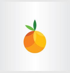 orange citrus fruit geometric icon vector image