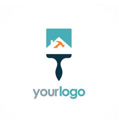 home repair logo vector image