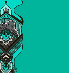 pattern with an octopus on a turquoise background vector image