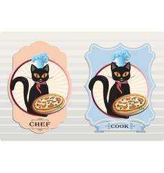 Cat Chef vector image