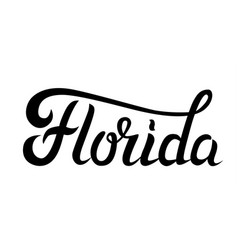 florida hand lettering vector image