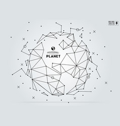 polygonal abstract world map vector image vector image