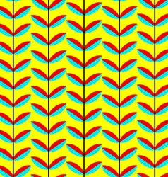 Seamless Patternt with Abstract Leaves Background vector image