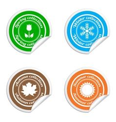 Season stickers vector image vector image