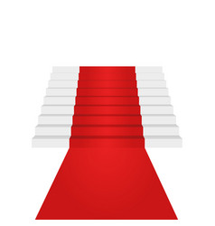 stairs up design element red carpet background vector image