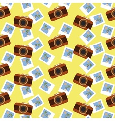 Summer photo pattern vector image vector image