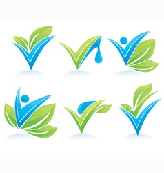 drop and leaves vector image vector image