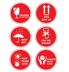 Fragile Handle with Care Label Sticker vector image