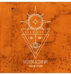 geometric alchemy symbol vector image vector image