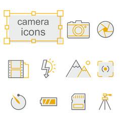 Thin line icons set linear symbols set vector