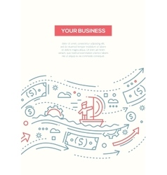 Your Business - line design brochure poster vector image vector image
