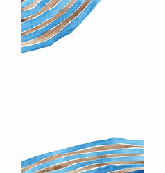 abstract blue and brown curve line wave frame vector image