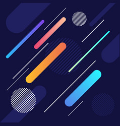 Abstract dynamic geometric shape and line pattern vector