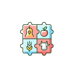 Agricultural cooperative rgb color icon vector