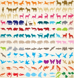 Animals silhouettes collection vector