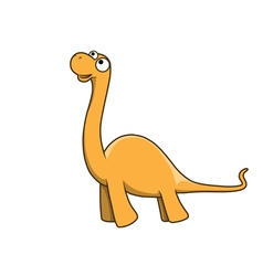 Apatosaurus cartoon vector image