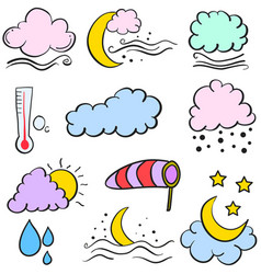 Art of weather element doodle vector