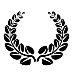 Award wreath icon simple style vector