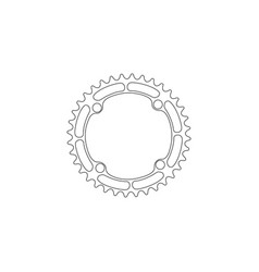 Bicycle chainring gear flat icon vector
