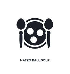 Black matzo ball soup isolated icon simple vector