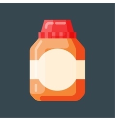 Bottle template blank package container vector image