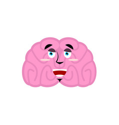 Brain happy emotion human brains emoji marry vector