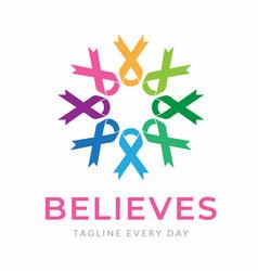 Cancer foundation logo design template vector
