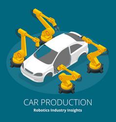 car manufacturer or car production concept vector image