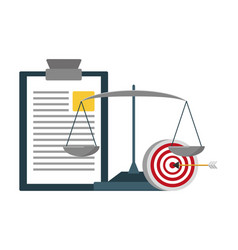 clipboard report target and balance vector image
